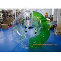 Wholesale Soft Handle / Safe Belt Inflatable Green half-color bumper ball  with SGS CE Certification from china suppliers
