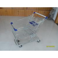 Wholesale 100L Low Tray Supermarket Shopping Trolley European Steel With Blue Baby Seat from china suppliers