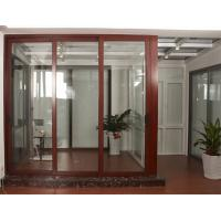 China aluminum door durable popular style good  heat and sound  insulation glass  office sliding door on sale