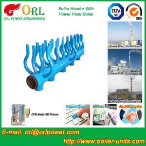 Quality SA213T22 Furnace Water Header / Steam Boiler Header TUV Certification for sale