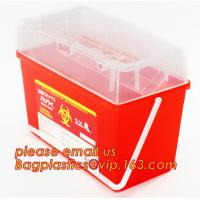 China Best Selling Biohazard Plastic Sharps Container For Sale, Sharps Container Medical Disposable Needle Box, Biohazard Plas on sale