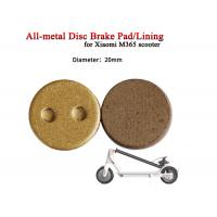 Wholesale Full Metallic Disc Brake Pads Lining MI KSD Skateboard Caliper Electric Scooter ANS-03 M365 CMD Applied from china suppliers