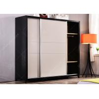 Wholesale Hotel Space Saving Wardrobe , Free Standing Wardrobe Stainless Steel Strip Sliding Door from china suppliers