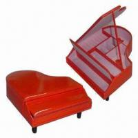 Buy cheap Leather Jewelry Box with Hot Red Piano Shape, Relax and Comfortable Music from wholesalers