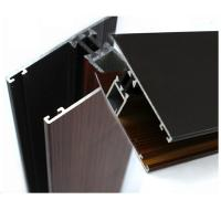 Buy cheap Industrial Wood Finish Aluminium Profiles For Polycarbonate Sheet OEM / ODM from wholesalers