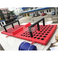 Wholesale Commercial Funny Game Red Inflatable Obstacle Course For Amusement Park from china suppliers