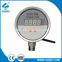China Stainless steel hydraulic digital pressure gauges without oil for sale