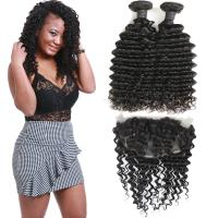 Wholesale Soft 9A Pre Plucked 360 Lace Frontal With Bundles Deep Wave OEM Service from china suppliers