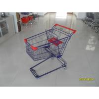 Wholesale Safety Plastic 75L Retail Wire Shopping Cart With Easy Pushing Handle from china suppliers