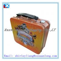 Wholesale Cute square lunch tin box with handle from china suppliers