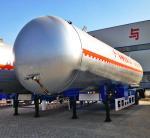 China LPG Tank Trailer, 59.6m3 LPG Tanker Trailer, LPG tank semitrailer, China LPG tanker
