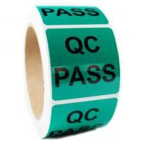 Wholesale QC Pass Security Sticker Labels , Custom Shape Security Seal Stickers Eco friendly from china suppliers