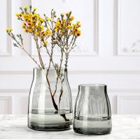 Wholesale Simple primary color glass vase transparent flower arrangement light luxury vase from china suppliers