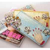 Wholesale 2014 new female long  zipper wallet,damond wallet from china suppliers