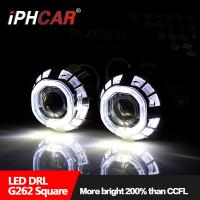 Wholesale IPHCAR EXW price Hid xenon light dual led angel eyes bi-xenon 2.5'' lens with mask for automotive headlight from china suppliers