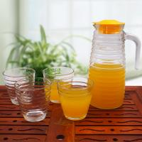 Wholesale 1000ml Glass Water Kettle Set Glass Juice Container Big Capacity LW-K12 from china suppliers