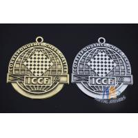 Buy cheap 2d Diecasting Custom Metal Medallions Alloy Material , Marathion 5k Race Medals from wholesalers