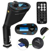Wholesale LCD kit Car MP3 Player Wireless FM Transmitter With USB SD MMC Slot remote Blue from china suppliers