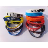 Red Professional Silicone Wristband Bracelet For Children And Adult for sale