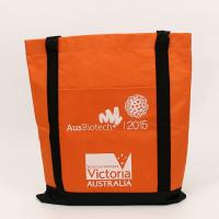 Wholesale Polyester Fabric Foldable Reusable Shopping Bags Custom Logo Printed from china suppliers