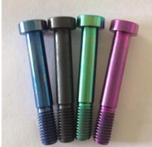 Wholesale Din912 ti6al4v M8X25mm Titanium Ti DIN912 Hexagon Rainbow Screw Allen Bolt from china suppliers