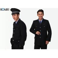Single Breasted Jacket Security Guard Uniform Long Sleeve For Men