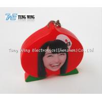 Wholesale OEM Funny Red Peach Shaped Musical Keyring , Custom Talking Keychain from china suppliers