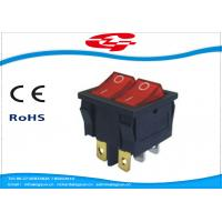 Wholesale 6 Pin Double Electrical Rocker Switches With Light Indicator , Electrical On Off Switch 10a 250v from china suppliers