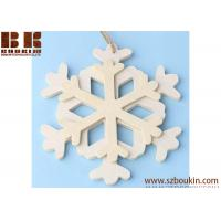 Wholesale Unfinished Wood Layered Snowflake Ornament Christmas tree ornaments Holidays Gift Ornament from china suppliers