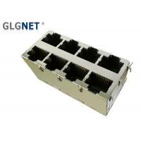 Wholesale Magnetic RJ45 Connector  2 x 4 RJ45 Multiple Port Connectors Through Hole Mounting 1000 Base T from china suppliers