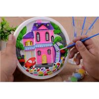 Wholesale Educational Kids Arts And Crafts Toys Miraculous 3D Gypsum Clock Painting Set from china suppliers