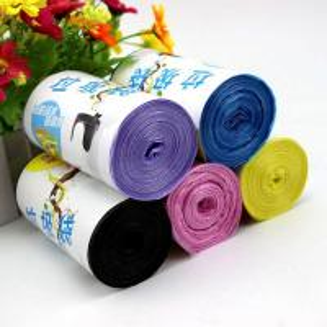 China Disposable Custom Printed Bin Bags , Heavy Duty Eco Friendly Trash Bags on sale