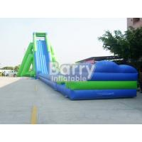 Wholesale Green And Blue Giant Inflatable Slide PVC Material Massive Inflatable Slides For Lawn from china suppliers