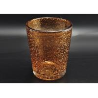Wholesale 316ml Hand Made Color Sprayed Glass Votive Candle Holder with Bubble Effect from china suppliers