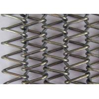 Wholesale Stainless Steel Flat Wire Mesh Spiral Woven Decorative Mesh For Architecture from china suppliers