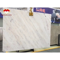 Buy cheap Natural rose marble onyx backlit pink vein white marble tile from wholesalers