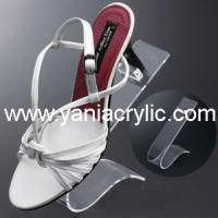 China Personalized Funky Acrylic High Heels Shoes Acrylic Product Display With Skillful Handwork on sale