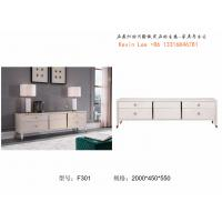 Wholesale American style Living room furniture Floor stand for TV table in light luxury Stainless steel metal with Coffee table from china suppliers