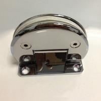 Wholesale Glass to wall 90 Degree hinge with biased fixing plate from china suppliers