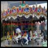 RGB lights Fiberglass Carousel For Sale 16seats With Animals Amusement Park Carousel for sale
