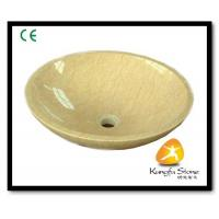Xiamen Kungfu Stone Ltd supply Egypt Beige Marble Sink For Indoor Kitchen,Bathroom for sale
