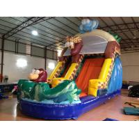 China Forest Elephant Animals Commercial Inflatable Water Slides Standard For Kids Under 15 for sale