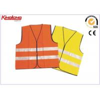 Quality Colorful reflective tape fluorescent safety vest , short working wasitcoat for sale