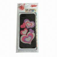 Wholesale Mobile Phone Sticker for iPhone 5, Made of Acrylic, Customized Designs are Accepted from china suppliers