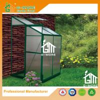 China Green Color Wall Lean-to 4mm PC Aluminum Greenhouse - 4'x4'x6.7'FT on sale