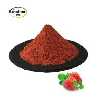 China Natural Strawberry Powder 100% Purity Organic Fruit Juice Powder Healthy 40-120 Mesh for sale