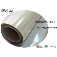Rear Projection Holographic Screen Film / Transparent Rear Projector Film for sale
