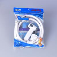 Wholesale jk-3046 egypt bangladesh middle east lower price white color abs plastic hand bidet shattaf set with 1.2m pvc hose from china suppliers
