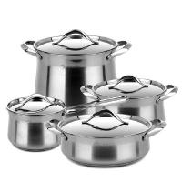 Buy cheap 410 # Stainless Steel Cooking Pot 0.4mm Thickness High Heat Efficiency from wholesalers