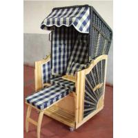 Wholesale Outdoor Beach Yellow Roofed Wicker Beach Chair & Strandkorb , UV Resistant from china suppliers